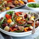 One-Pan Kielbasa Veggie Bake with Potatoes