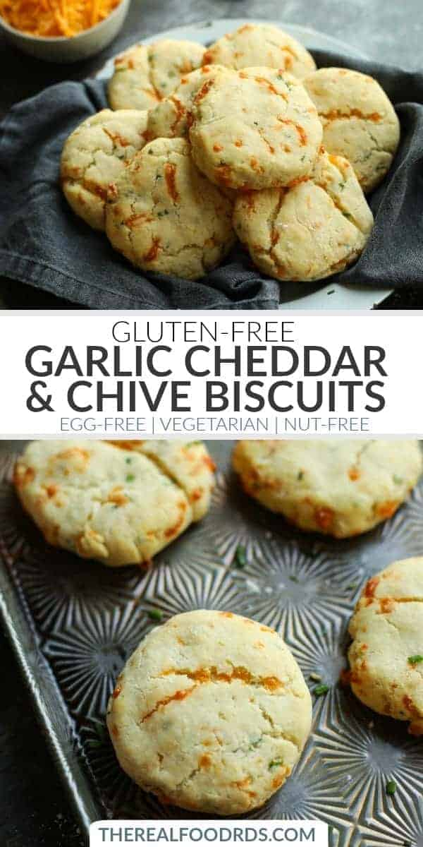 pinterest image for Garlic Cheddar Biscuits