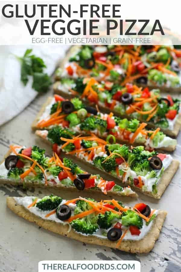 Pinterest image for Gluten-free Veggie Pizza