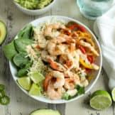 One-Pan Shrimp Fajita Bowls