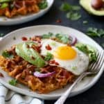 Savory Sweet Potato Bacon Waffles