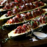 Italian-Sausage Stuffed Zucchini Boats