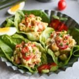 BLT Egg Salad Lettuce Wraps