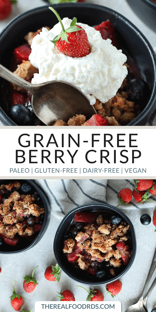 Pinterest image for Grain-free berry crisp