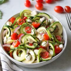 Caprese Zucchini Salad with Balsamic Vinaigrette