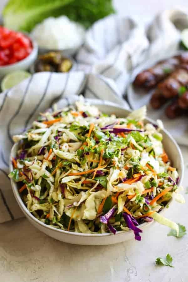 Mexi Slaw in a white bowl