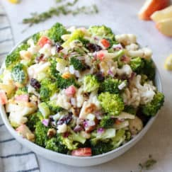 Apple Broccoli Cauliflower Salad