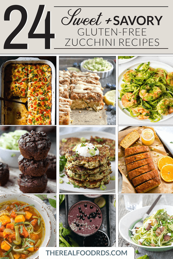 Pinterest image for 24 Sweet & Savory Gluten-free Zucchini Recipes
