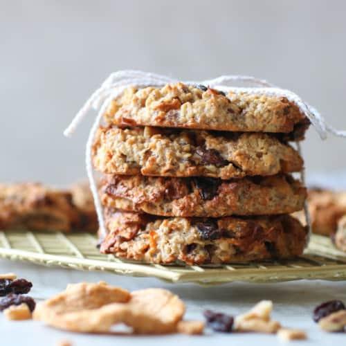 Apple Cinnamon Breakfast Oat Cookies