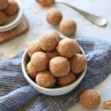 No-Bake 3-Ingredient Peanut Butter Bites (nut-free option)