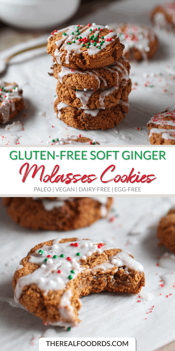 Pin image Gluten-free Soft Ginger Molasses Cookies