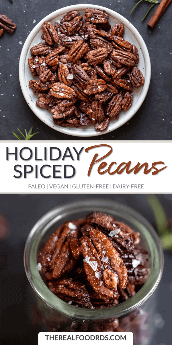 Long Pin image for Holiday Spiced Pecans