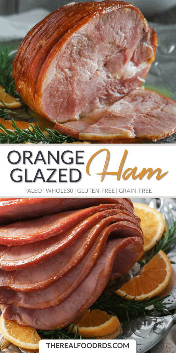 Long Pin Image of Orange Glazed Ham