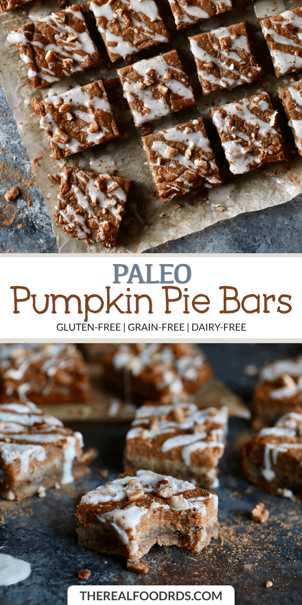 Long Pin image for Paleo Pumpkin Pie Bars