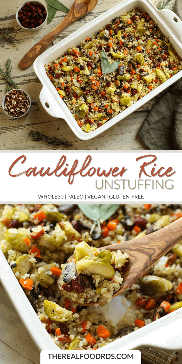 Long Pin Image for Cauliflower Rice Unstuffing