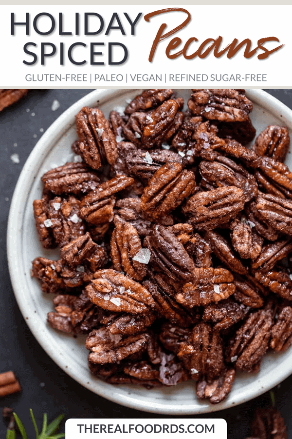 Short Pin Image for Holiday Spiced Pecans