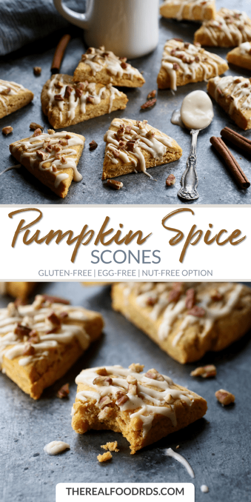 Long Pin Image for Pumpkin Spice Scones