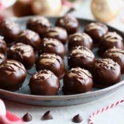 Healthy Buckeyes (Peanut Butter Balls)
