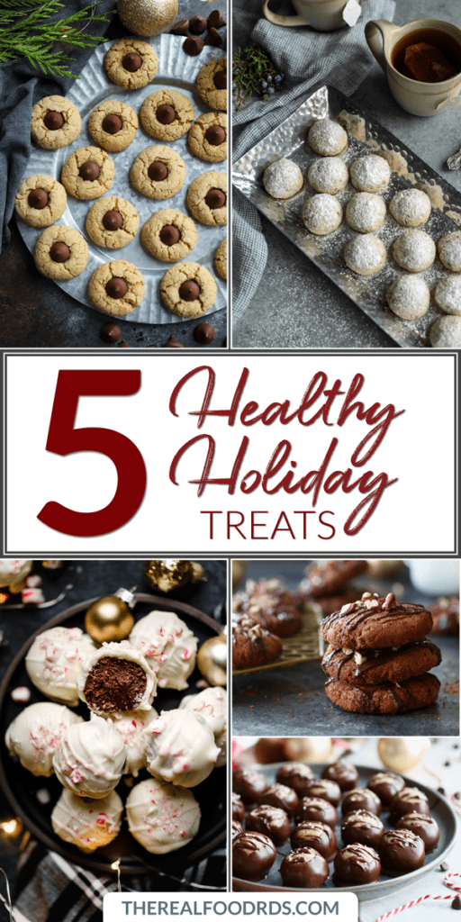 Long Pin Image for 5 Healthy Holiday Treats