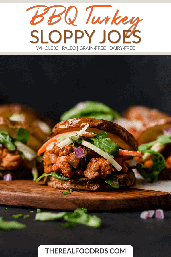 Short Pin Image for BBQ Turkey Sloppy Joes