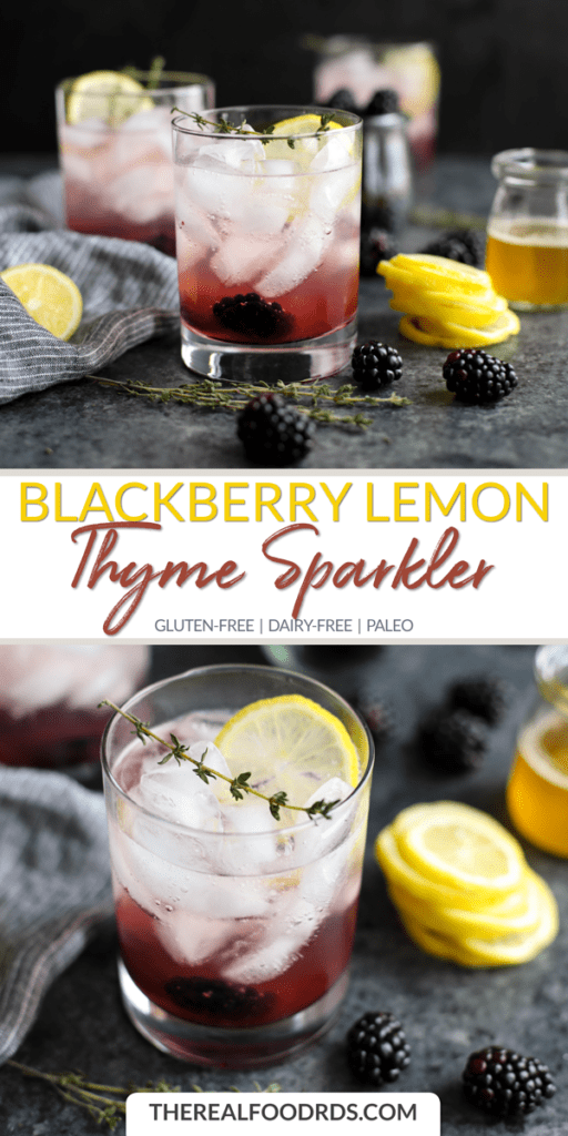Long pin image for Blackberry Lemon Thyme Sparkler