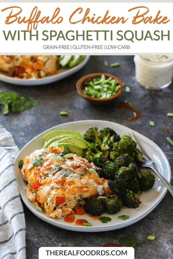 Small Pin Image for Buffalo Chicken Bake with Spaghetti Squash