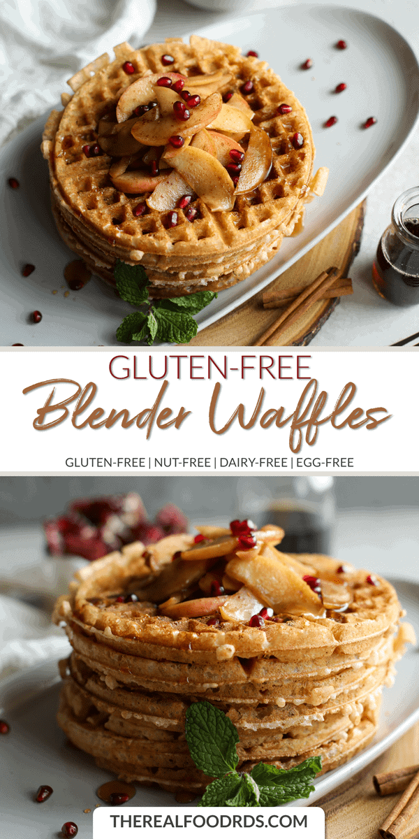 Long Pin Image for Gluten-free Blender Waffles