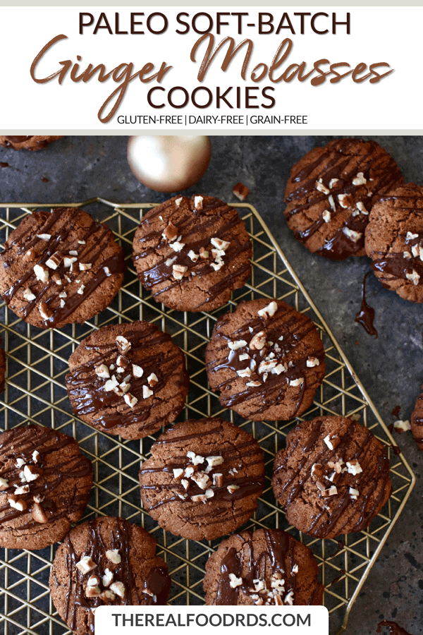 Short Pin Image for Paleo Soft-Batch Ginger Molasses Cookies