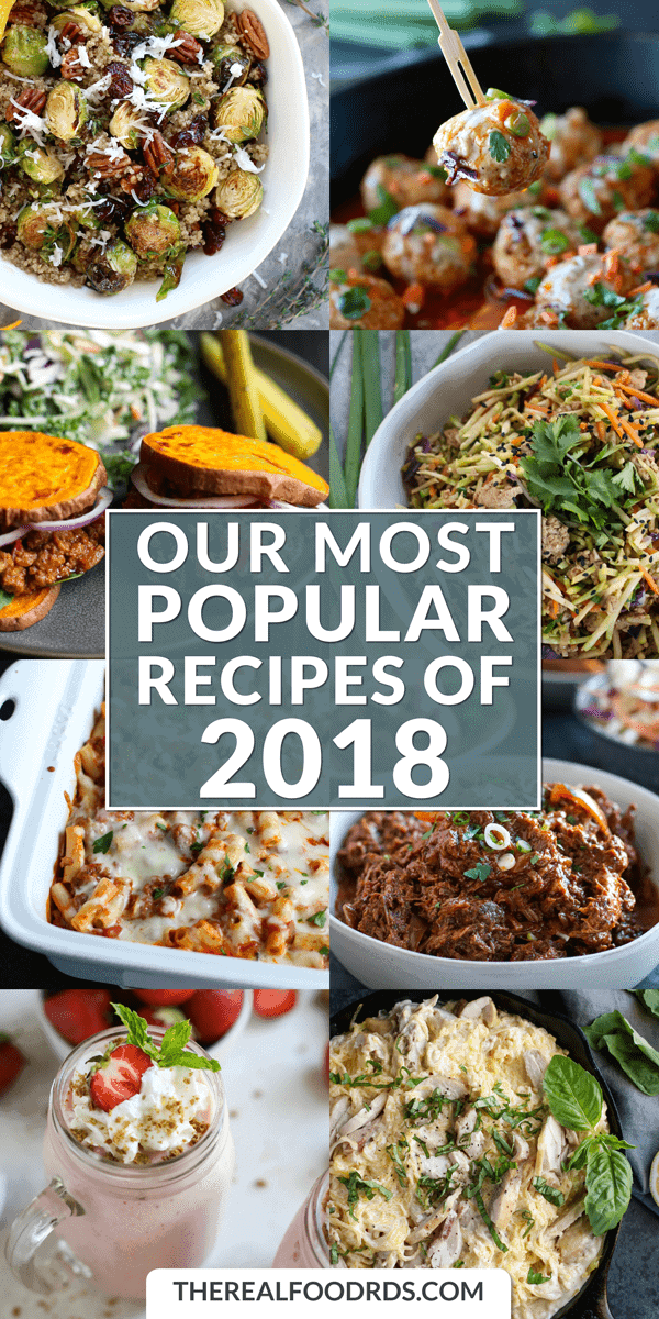 Long Pin Image for Our Most Popular Recipes of 2018