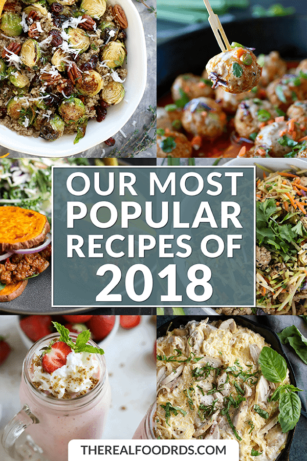 Short Pin Image for Our Most Popular Recipes of 2018