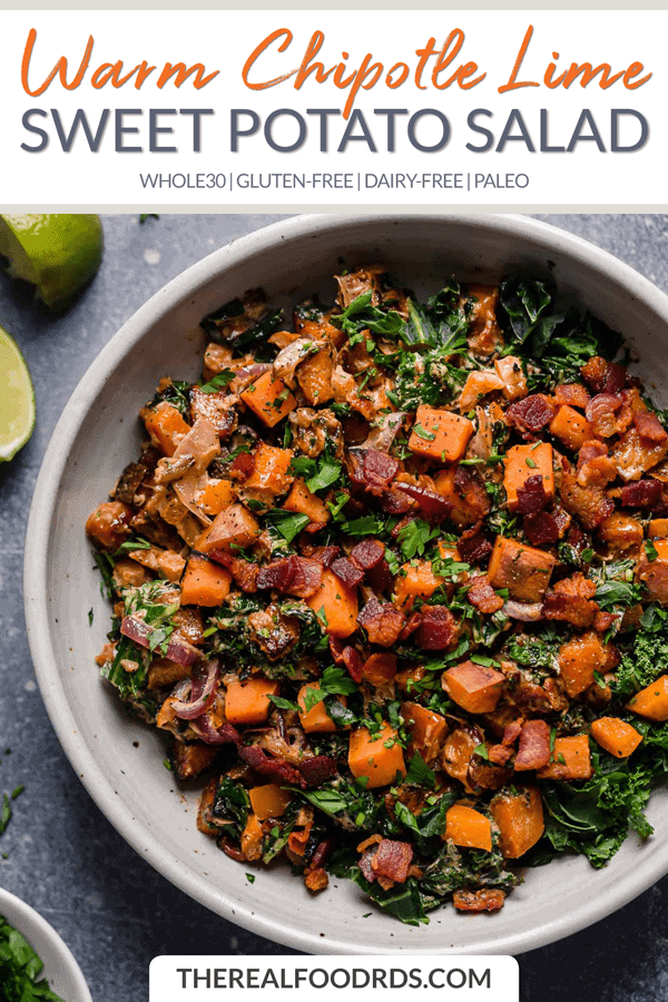 Short Pin Image for Warm Chipotle Lime Sweet Potato Salad