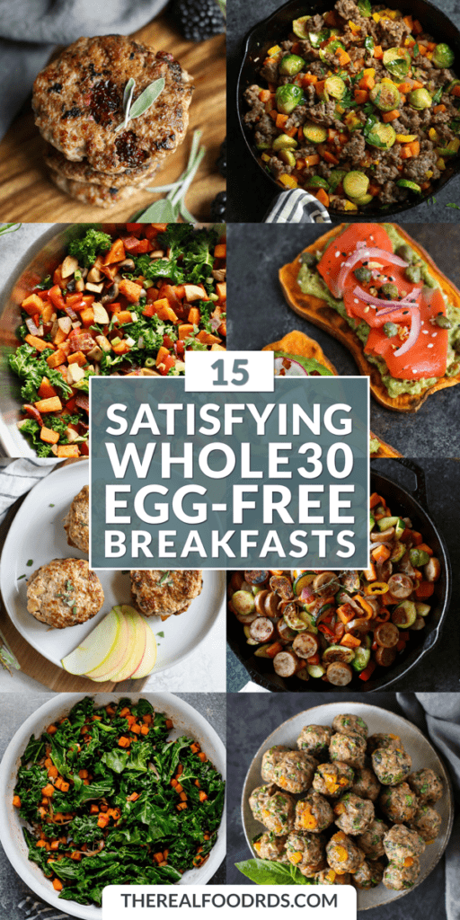 Long Pin Image for 15 Satisfying Whole30 Egg-Free Breakfasts