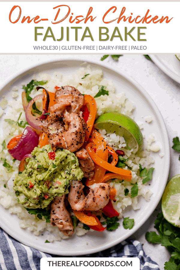 Short Pin Image for One-Dish Chicken Fajita Bake