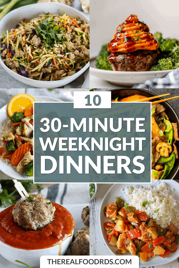 Short Pin Image for 10 30-Minute Weeknight Dinners