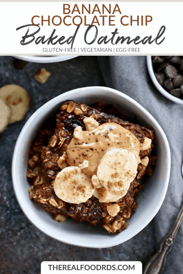 Short Pin Image for Banana Chocolate Chip Baked Oatmeal