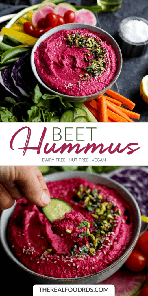 Long Pin Image for Beet Hummus