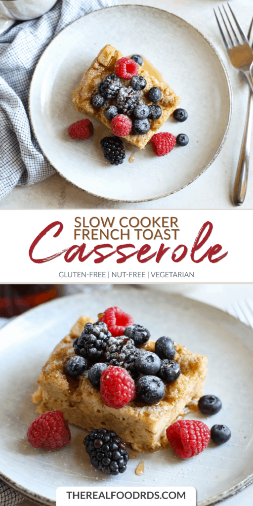 Long Pin Image for Slow Cooker French Toast Casserole