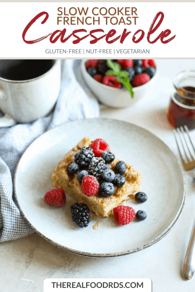Short Pin Image for Slow Cooker French Toast Casserole