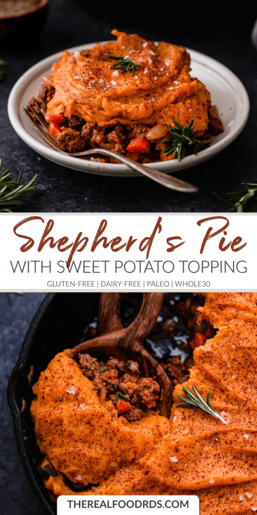 Long Pin Image for Shepherd's Pie with Sweet Potato Topping