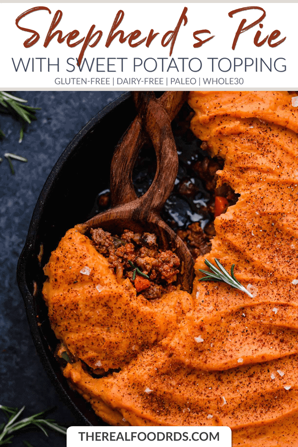 Short Pin Image for Shepherd's Pie with Sweet Potato Topping