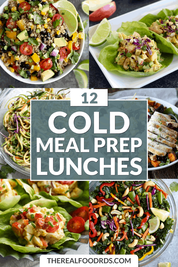 Short Pin Image for 12 Cold Meal Prep Lunches