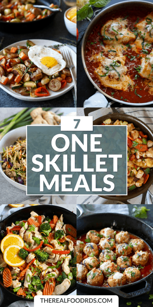 Long Pin Image for 7 One Skillet Meals