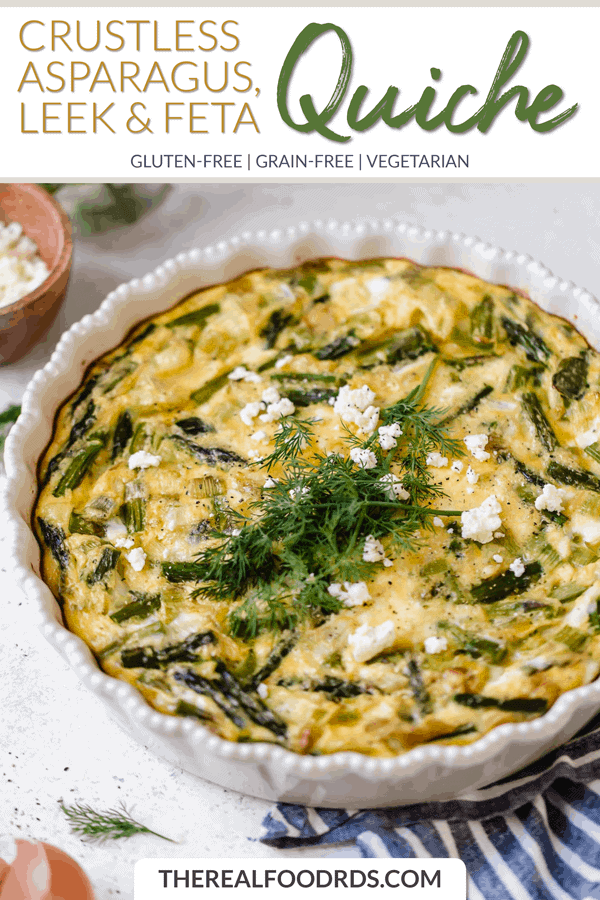 Short Pin Image for Crustless Asparagus, Leek & Feta Quiche