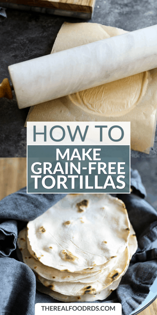 Long Pin Image for How to Make Grain-free Tortillas