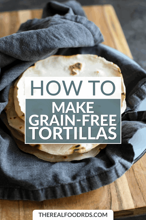 Short Pin Image for How to Make Grain-free Tortillas