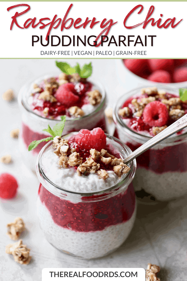 Short Pin Image for Raspberry Chia Pudding Parfait