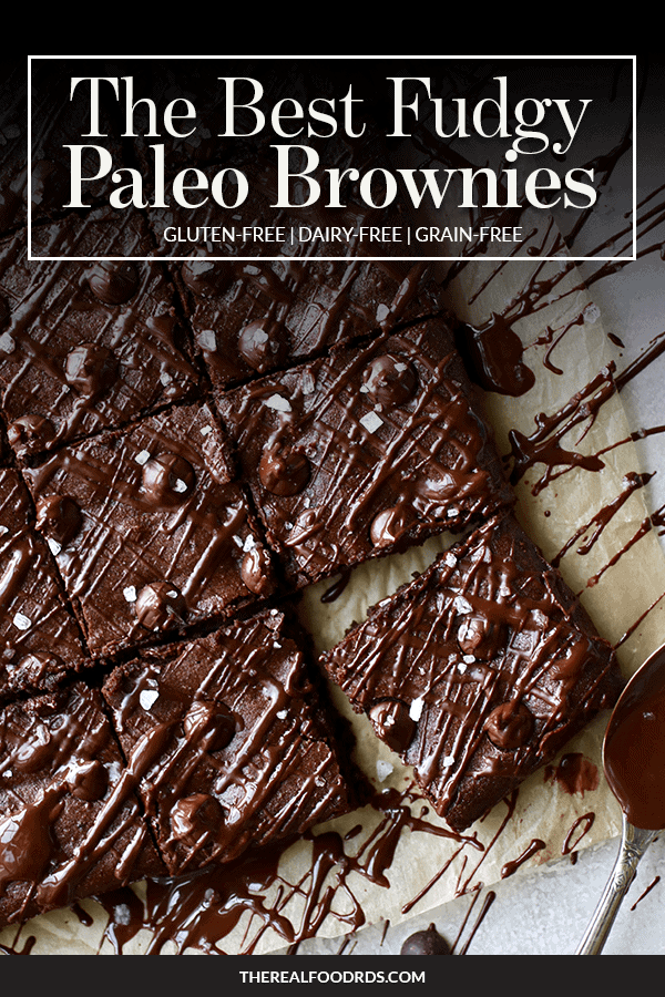 Pin Image for The Best Fudgy Paleo Brownies