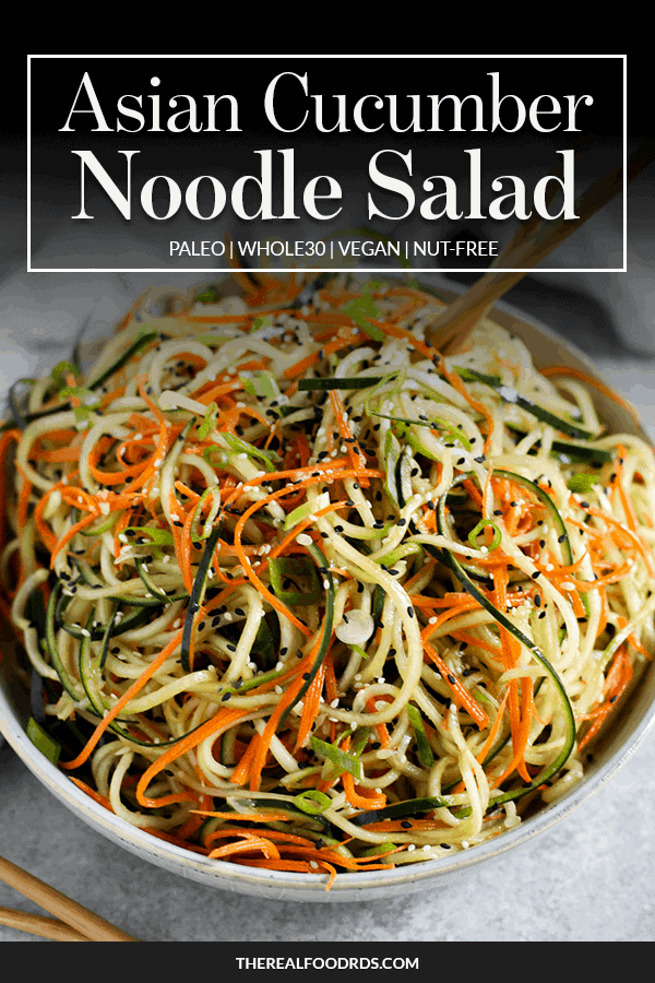 Pin image for Asian Cucumber Noodle Salad