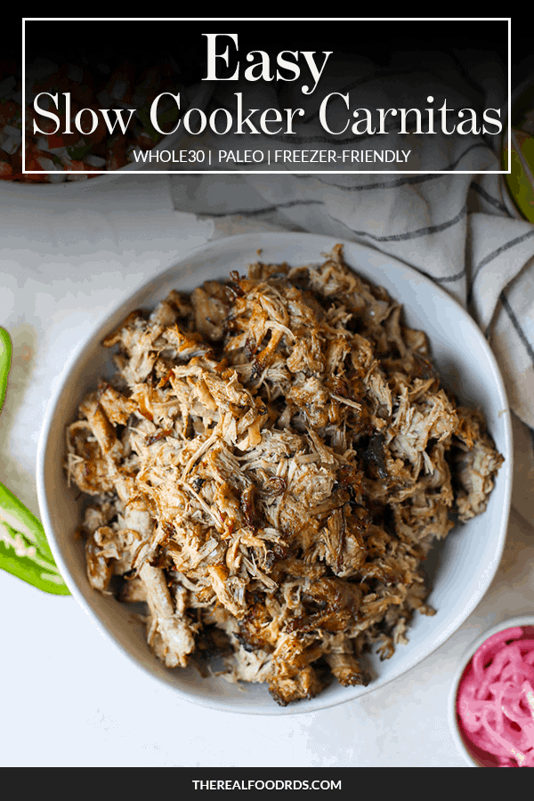 Pin image for Easy Slow Cooker Carnitas
