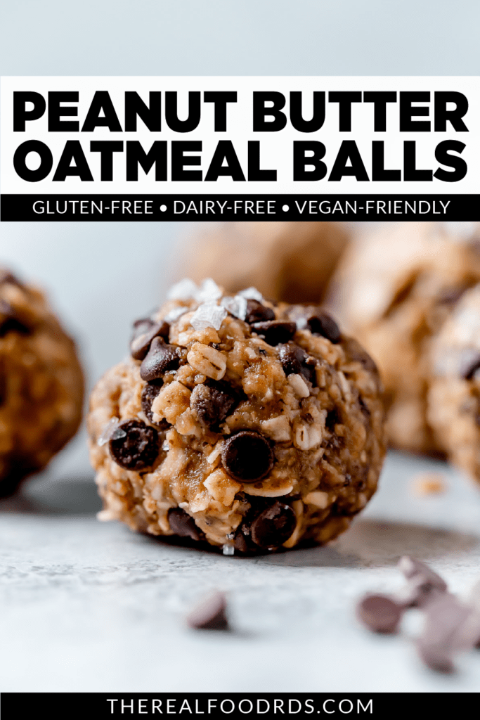 Peanut Butter Oatmeal Balls | pin for pinterest